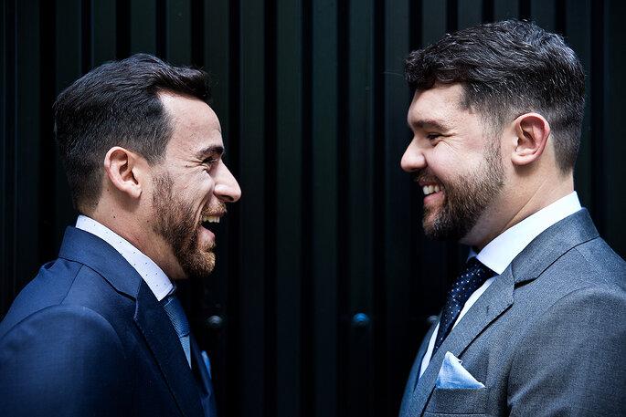 dois noivos homosexuais - casamento gay