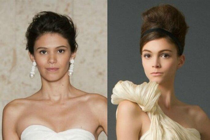 Elige tu peinado de novia para este otoño - Foto: Rosa Clará y Carolina Herrera