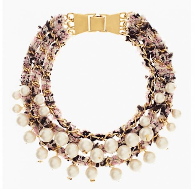 Statement necklaces para novia en tendencia - Foto Kate Spade