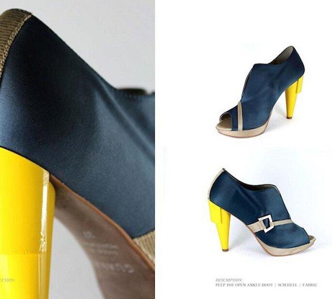 Bunte Schuhe peppen schlichte, einfärbige Outfits auf –Foto: Guava