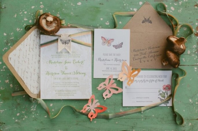 Butterfly invitations - Photo: Huckleberry Karen Designs