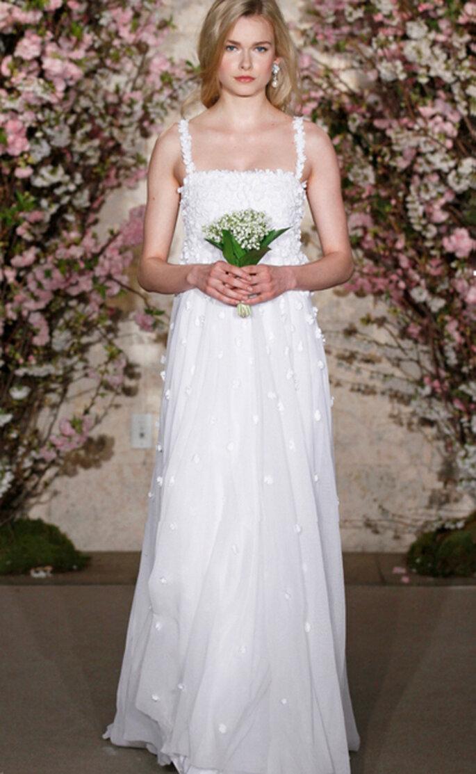 Consejos para elegir tu vestido de boda en verano - Foto Oscar de la Renta