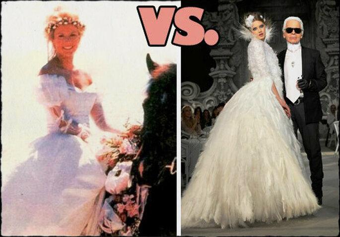 Brooke in uno dei suoi innumerevoli matrimoni in spiaggia, correva l'anno '94. Foto via febbrebeautiful.blogspot.com