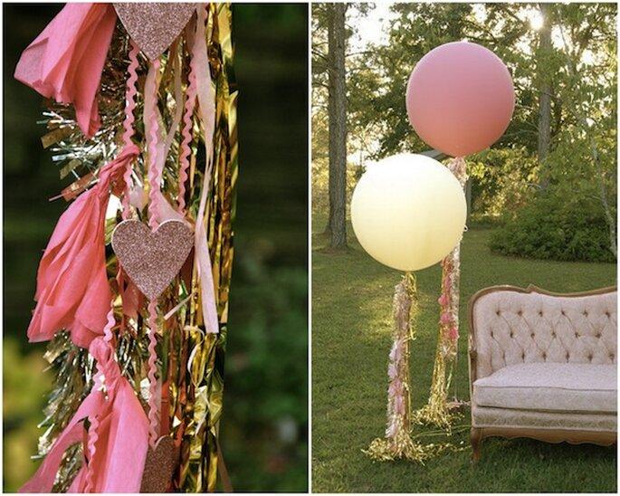 Decoración de boda con globos - Foto Blue Eyed Yonder