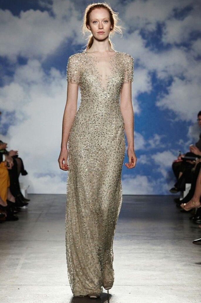 Tendencias vestidos novia 2015 con joyas tejidas - Jenny Packham