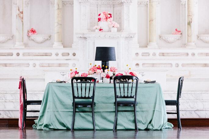 decoración de bodas en color menta - Brian Leahy Photography