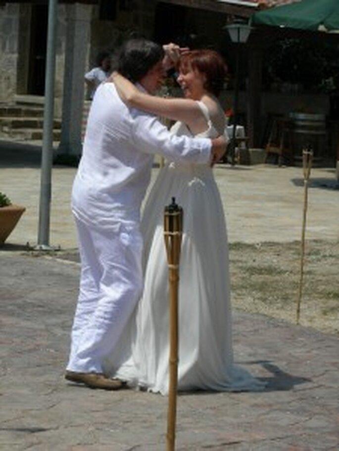 El momento del vals de los recién casados