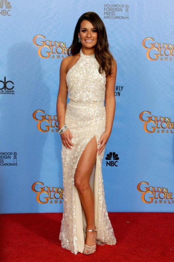 Lea Michele con un vestido Elie Saab en los Golden Globes 2013 - Foto Elie Saab Facebook