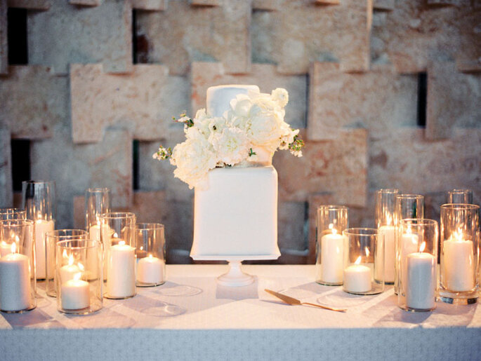 Decoración de boda con velas