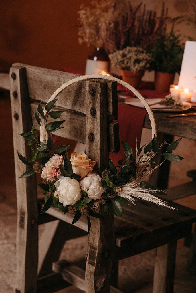 Flores boho chic para boda Francis Deco