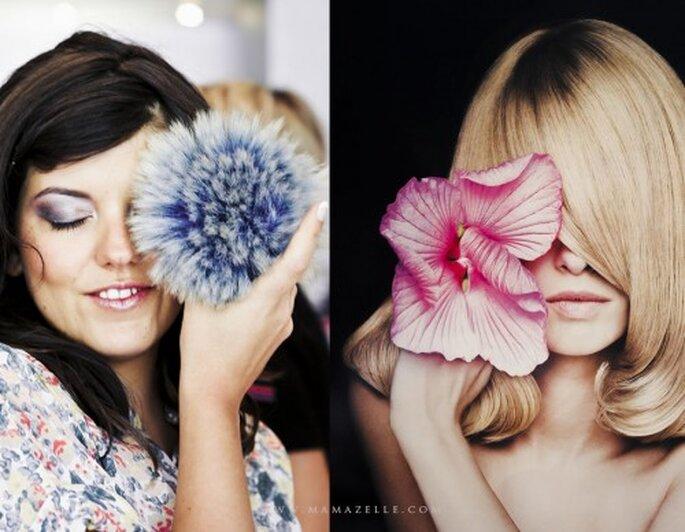 Bunte Braut-Make ups sorgen für mehr Frische im Gesicht – Foto: mamazelle.com