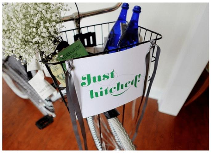 Decoración de una boda con bicicletas - Foto Ashley Brown Photography