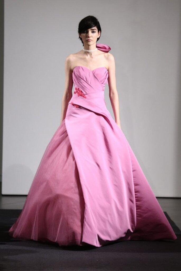 Vestidos de novia color rosa de Vera Wang colección otoño 2014