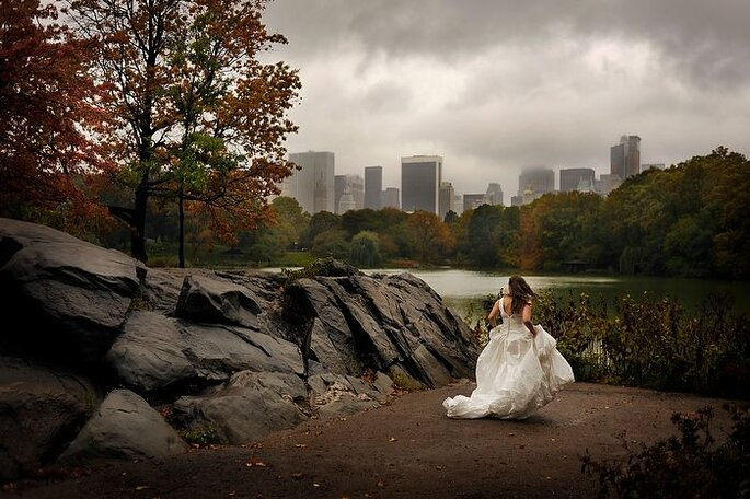 ¿Te imaginas un trash the dress en Central Park? Foto de Daniel Aguilar