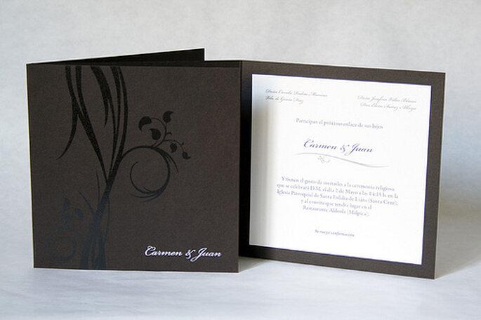 Hochzeitskarten in gedeckten Farben