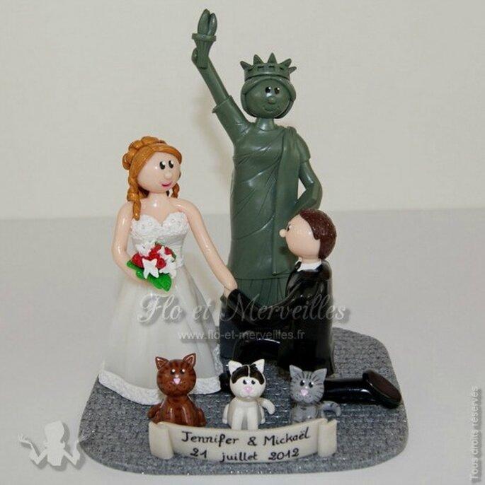 Figurines personnalisées : un souvenir magique et inoubliable de votre mariage - Photo : Flo et Merveilles