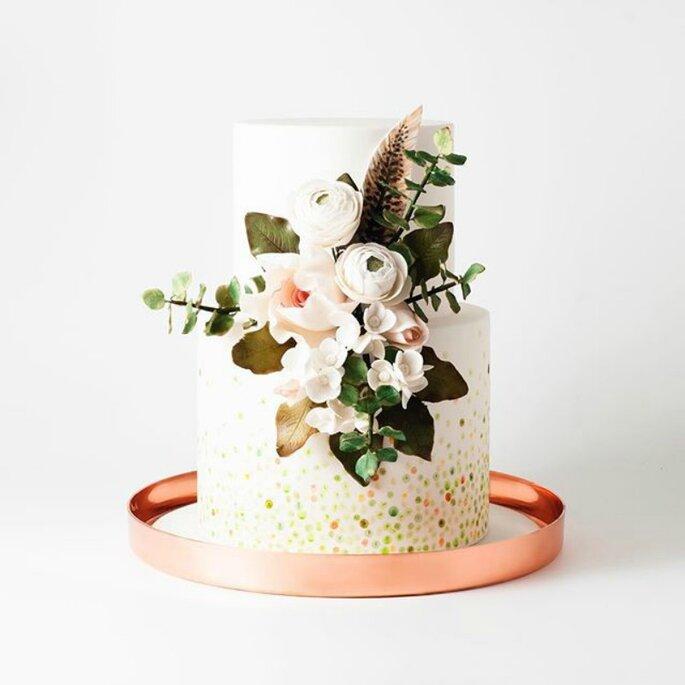 Hochzeitstorte im Aquarell Stil