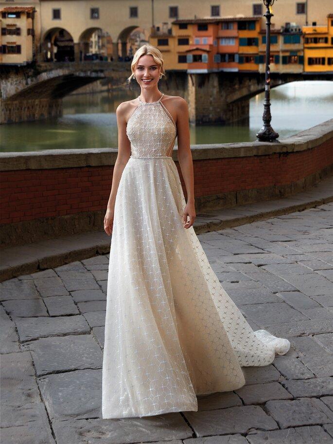 Vestidos de novia cuello halter
