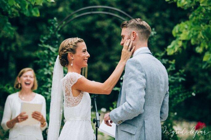 Coiffure de mariage cheveux long avec voile