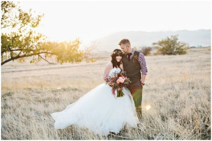 Sessão de fotos de casamento inspirada no Outono - Foto Alyssia B Photography