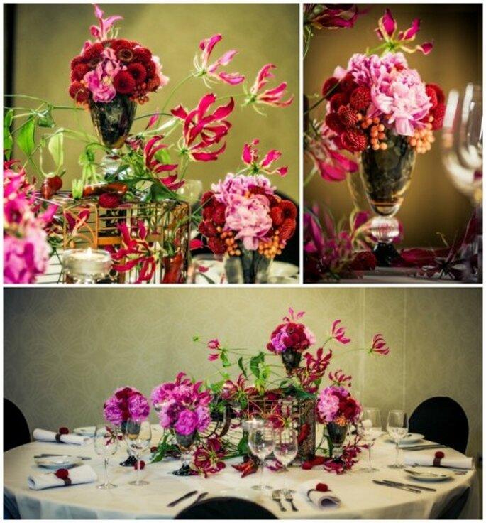 kwiaty na weselu-dekoracje