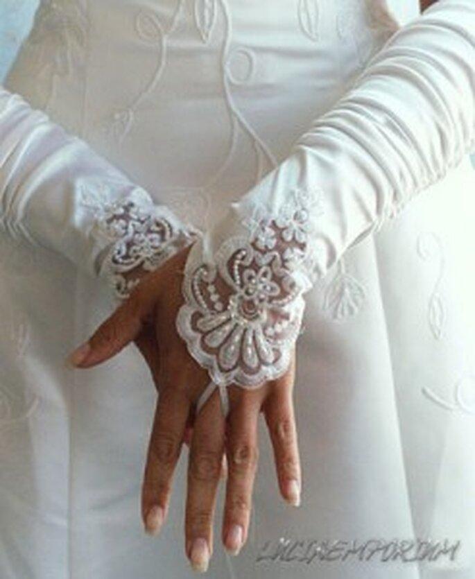 Mitaines de mariée en dentelle