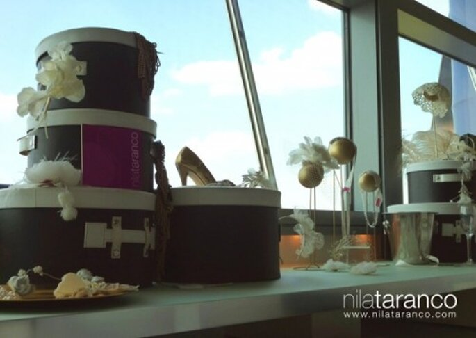 Piezas exclusivas y tocados para novia en alta costura - Foto Nila Taranco