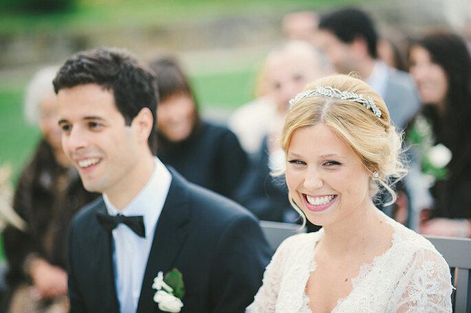 Tendencias 2014 en tocados para novias. Foto: Quem Casar Quer