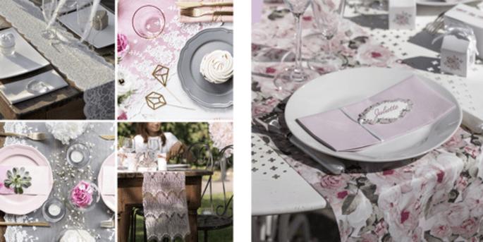 Chemins de table en dentelle et Rouleau de table à motif bucolique