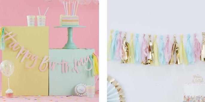 Guirnalda color Paste Feliz Cumpleaños