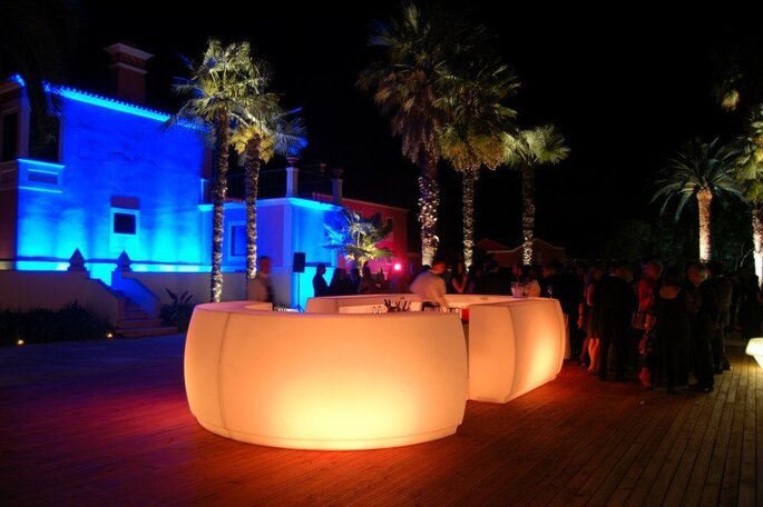 bar iluminado casamentos