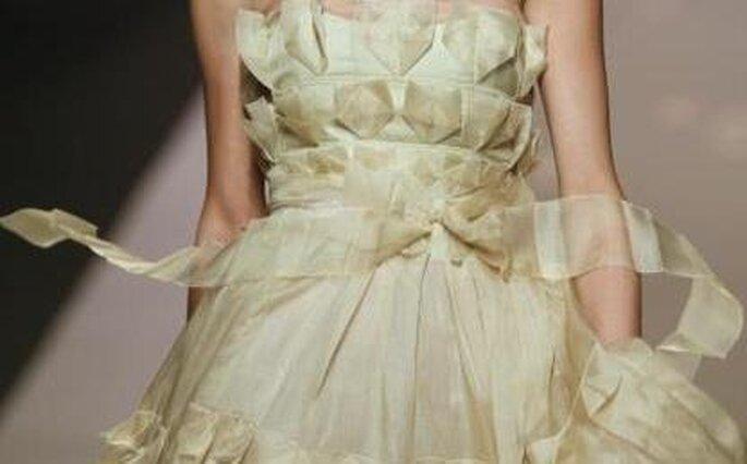 Vestido de novia Victorio Luccino - palabra de honor y con cinturón