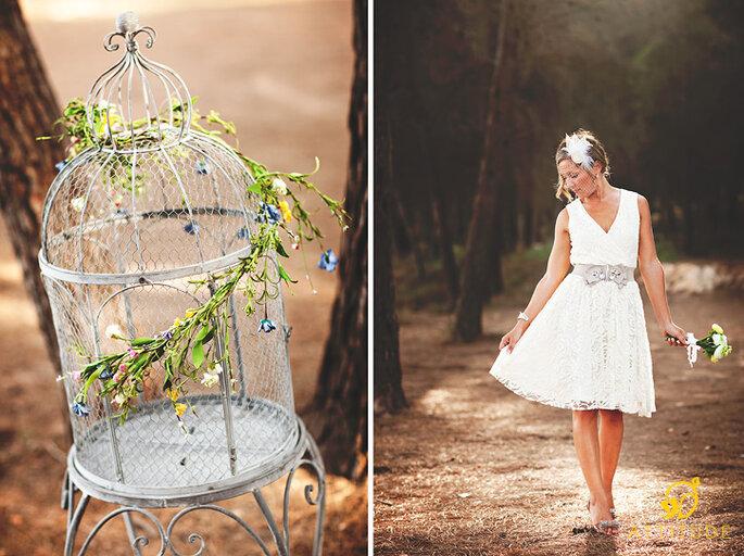 Estética vintage para la boda. Foto: Attitudefotografia.com