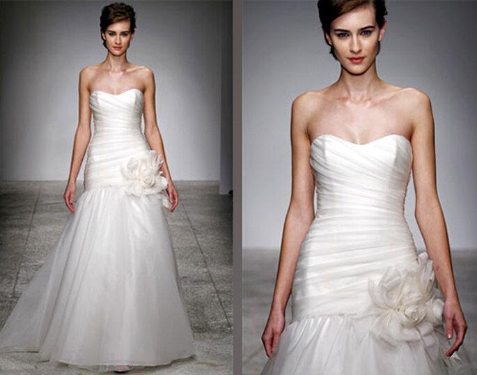 Vestido de novia elegante de organza - Foto: Amsale Bridal