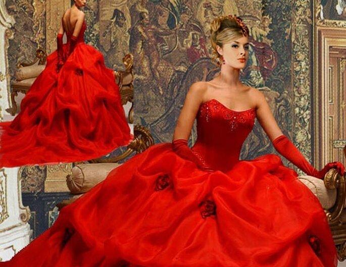 Vestidos de Noiva vermelhos - Marchesa