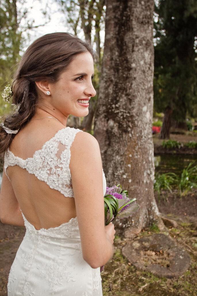 Detalle de la espalda. Foto: Julie Bayona White Photography