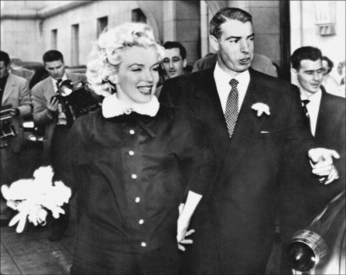 Marilyn Monroe e Joe di Maggio em 1954