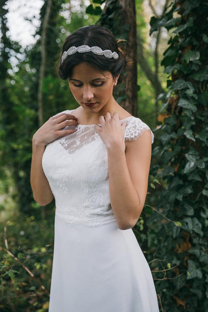 Excepcional Vestido De Boda J Reyez Ideas Ornamento Elaboración ...