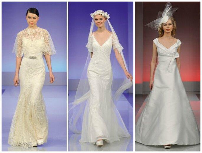 Tre proposte dalla linea seducente e minimal. Cymbeline Collezione Sposa 2013. Foto: www.cymbeline.com
