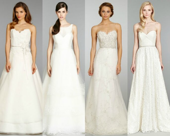 Vestidos de novia con corte en línea A - Fotos de A by Alvina Valenta, Tara Keely, Lazaro y Blush by Hailey Paige en JLM Couture