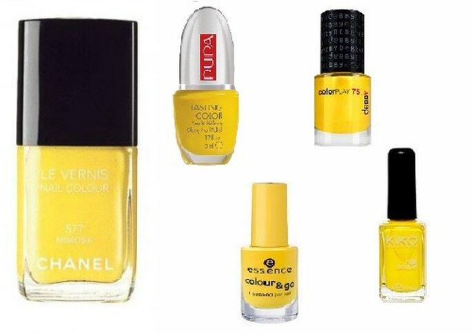 E le unghie si tingono di giallo! Chanel Le Vernis color Mimosa, Lasting Color di Pupa, Debby, Essence e Kiko