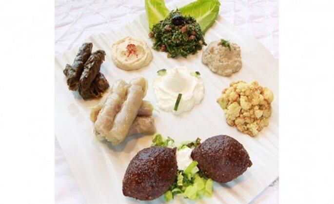 Banquete libanés para boda. Fotografía Banquetes Ambrosia