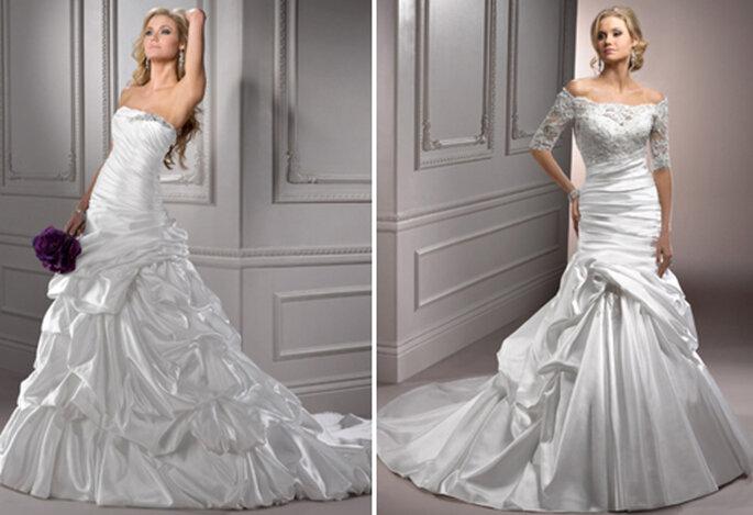 Due abiti romantici per una sposa classica e moderna al tempo stesso. Maggie Sottero Collezione 2012