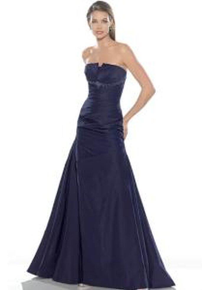 La Sposa 2009 - Robe noire, longue, en taffetas, sans bretelles