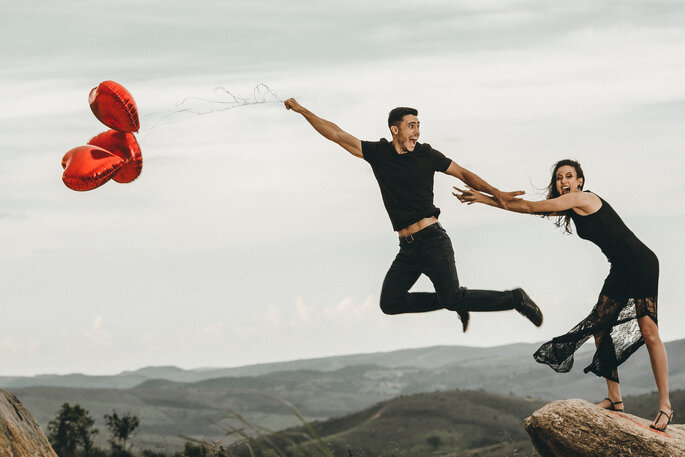 Fotos só exigem a felicidade do casal