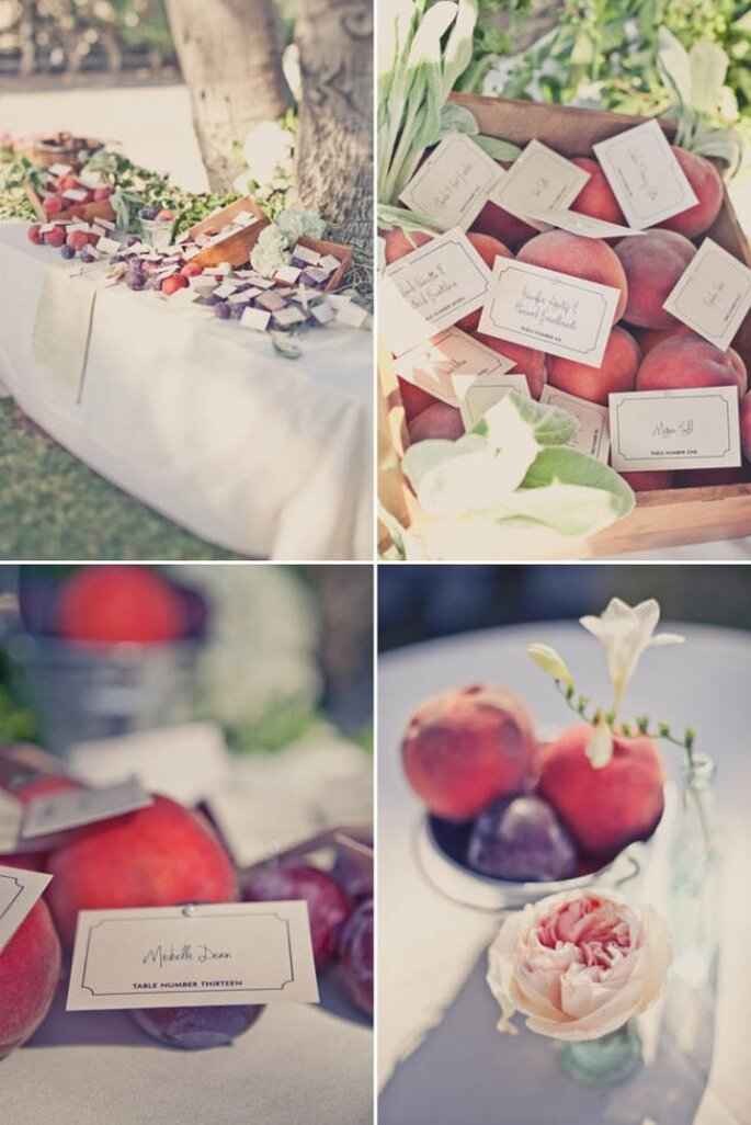 Frutas en la decoración de tu boda - Foto One Love Photography