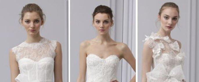 Acconciature da sposa dalle sfilate primaverili 2013 di Monique Lhuillier