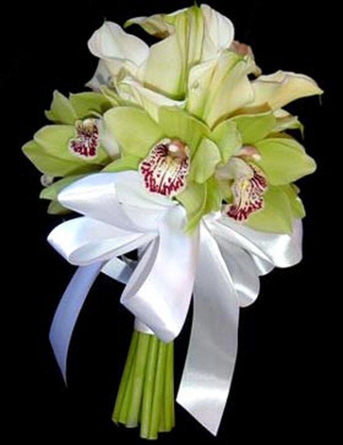 Ramo de novia de orquideas
