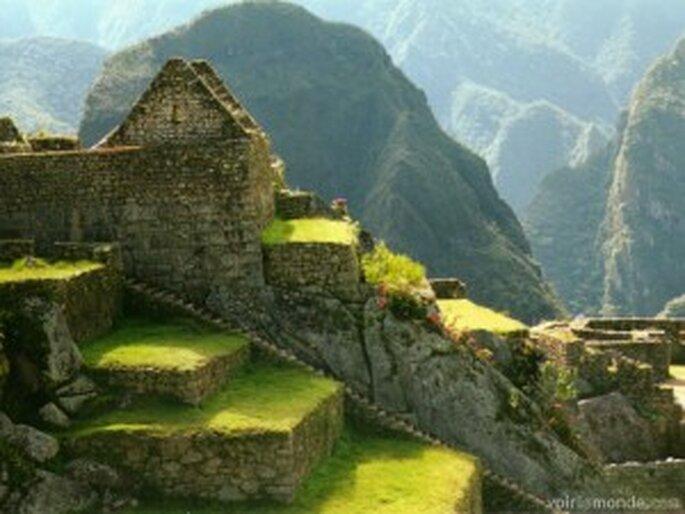 El Machu Picchu en Perú...
