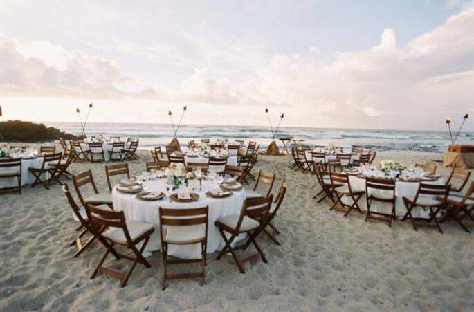 Montajes perfectos para una boda en la playa - Foto LHCalligraphy